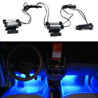 4 X 3 LED 12V DC Car Auto Interior Atmosphere Lights Decor Lamp Blue LED Sales