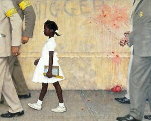"""Print - Norman Rockwell's """"The Problem We All Live With"""" (Black Lives Matter)"""