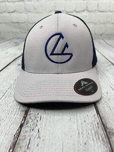 Foundation Disc Golf Logo Hat Cap Flexfit Navy Gray 474F NEW Free Shipping