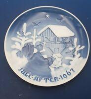 1967 B&G Bing & Grondahl Christmas Plate SHARING THE JOY