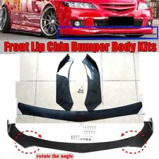 Front Bumper Lip Body Kit Spoiler Splitter Universal for BMW Audi VW Mercedes