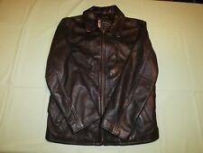 Vintage Dark Brown Leather Jacket Eddie Bauer Legend Womas