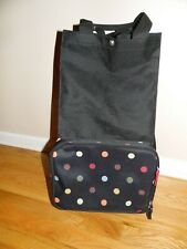Reisenthel Foldable Trolley Bag Packable Oversized Tote with Wheels Dots EXC