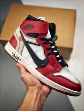 scarpe Nike Jordan 1 Retro High Off-White Chicago red rosse shoes sneakers