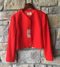 NWT VINTAGE WOMENS PENDLETON RED LINED WOOL BLAZER JACKET SIZE 10
