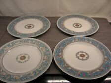 """Lot of 4 Wedgwood Florentine Turquoise W2714 Dinner Plates 10 1/2"""" GC"""