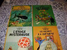 4 livres anciens BD aventures de tintin édité année 1981