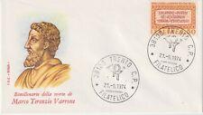 """BIMILLENARIO MORTE MARCO TERENZIO VARRONE FDC """"ROMA"""" 1974"""