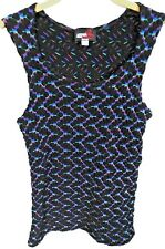 Andria Lieu Collection Sleeveless Tank Top Multicolor Textured Shirt Size Small