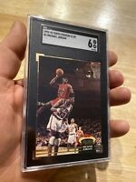 Michael Jordan SGC 6 Ex 1992 Topps Stadium Club #1 Last Dance Chi-Town VELVETY