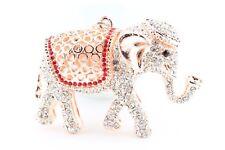 Rose Gold Elephant Fashion Keychain Crystal Cute Animal Charm Cute Gift F8