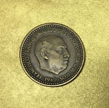 ESPAGNE ESTADO ESPAGNOL FRANCO 1 PESETA 1947 *54 - BELLE MONNAIE et ASSEZ RARE -
