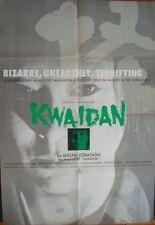 KWAIDAN KAIDAN Japanese B1 export movie poster KOBAYASHI TATSUYA NAKADAI 1964