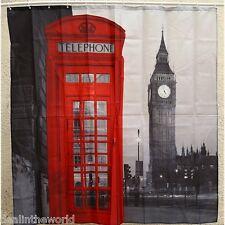 Londra Big Ben Motivo Bagno Impermeabile Bianco Tenda Doccia In Poliestere