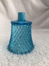 Blue Hobnail Glass Votive Cups Homco Home Interiors Vintage 1970s