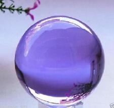 Asian Rare Natural Quartz Purple Magic Crystal Healing Ball Sphere 40mm+Stand