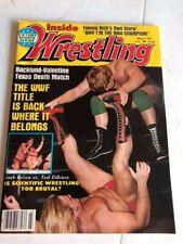 Inside Wrestling Magazine - March 1982 - Bob Backlund, Greg Valentine WWF Title