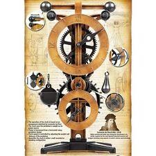 Clock Making Kit Academy da Vinci Wood Model Pendulum Wall Stand DIY Craft New