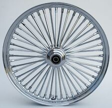 "FAT SPOKE FRONT WHEEL CHROME 21"" HARLEY SPORTSTER DYNA SUPER GLIDE LOW RIDER"