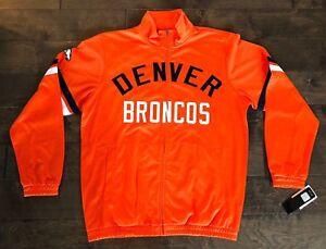 DENVER BRONCOS NFL (TEAM APPAREL) FULL ZIP FLEECE JACKET ORANGE MENS SZ XL NWT