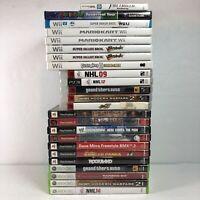 Lot 24 Cases Wii/PS2/3DS/Gamecube/Xbox Fire Emblem Mario Kart Smash Bros Golf