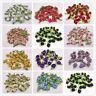 20/100PCS Mini Satin Ribbon Rose Flower Leaf Wedding Applique Sewing DIY Crafts