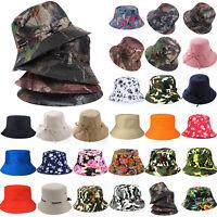 Men Women Unisex Bucket Hat Boonie Hiking Fishing Beach Festival Outdoor Sun Cap