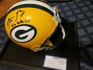 Aaron Rodgers Autographed signed Packers Helmet Inscribed LE 1/12 FS Proline coa
