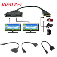 1080P HDMI Port Male to Female 1 Input 2 Output Splitter Cable Adapter Converter