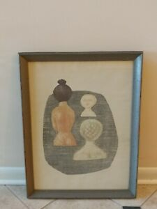 "Massimo Campigli Midcentury Italian Lithograph ""BATHERS"" 10/125 dated 1952"
