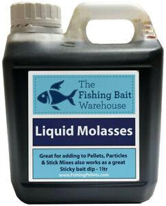 Liquid Molasses Fishing Attractant 1ltr, 5ltr, 20ltr- Glug, Boilie Dip, Carp