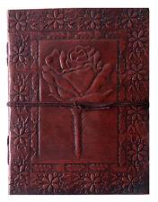 Handmade Rose Diary Embossed Vintage Look Leather Journal Sketchbook Notebook8x6