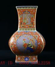 Chinese Cloisonne Hand-Painted Bird&Flower Vase W Yongzheng Mark CQFL15