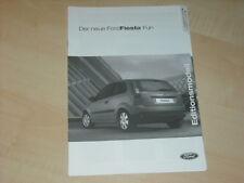 39963) Ford Fiesta Fun Preise & Extras Prospekt 11/2005