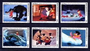 Maldives 1993 MNH 6v, Disney, Cartoons, Peter & Wolf