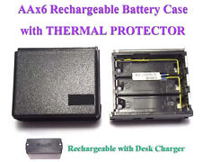 AA6 Rechargeable Battery Case + THERMAL Icom IC-2AT 02AT 04AT 2GAT 32AT A2 M5 12