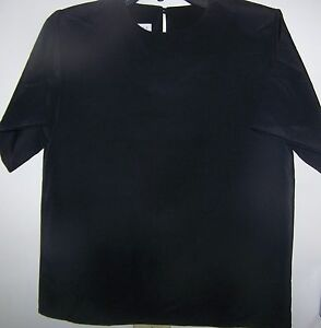 Womens Top Martinique M Black SS Professional Career Solid