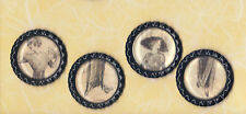 Graphic45 A LADIES' DIARY #111 (4) Black Flat Bottle Cap Accents HANDMADE