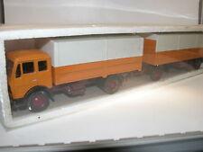 NZG 146, Mercedes-Benz 1632 Branda autotreno, 1973, arancione, OVP, 1/50
