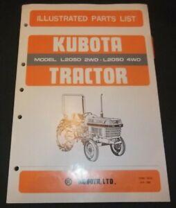 KUBOTA L2050 2WD 4WD TRACTOR PARTS MANUAL BOOK CATALOG OEM ORIGINAL