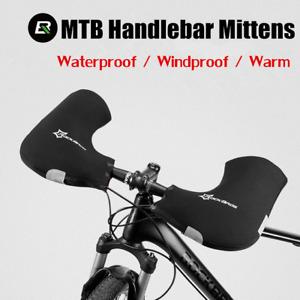 ROCKBROS Windproof Winter Warm Bicycle Handlebar Mittens MTB Bike Gloves Mitt