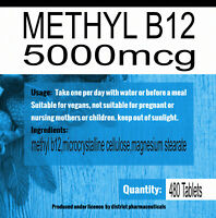METHYL B12 HIGH STRENGTH 5000mcg 5mg Methylcobalamin x 480 Tablets