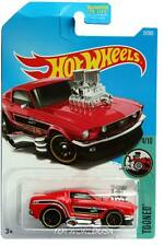 2017 Hot Wheels #27 Tooned '68 Ford Mustang red