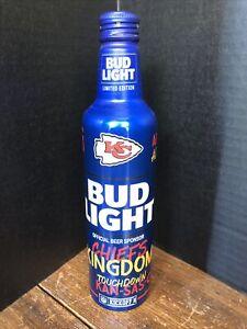 2021 Kansas City Chiefs Bud Light KC Chiefs Kingdom Empty Aluminum Bottle