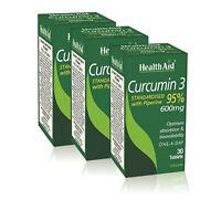 HealthAid Curcumin 3 Vegan 30 Tablets - 3 Pack