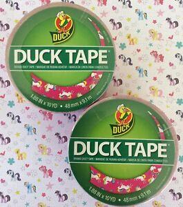"Duck Brand Patterned Duct Tape Unicorns Fantasy Animal Horse 1.88"" X 10 Yards"