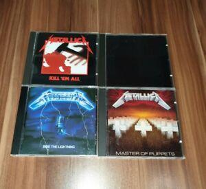 Metallica - 4 CD Alben - Black, Master Of Puppets, Kill 'Em All, Ride the...