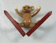 Hagen Renaker miniature made in America Ski Bear Sitzmark retired Ai