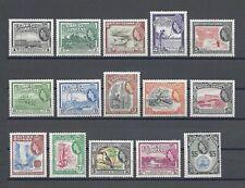 BRITISH GUIANA 1954-63 SG 331/45 MINT Cat £110