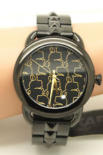NEW Karl Lagerfeld Stainless Steel Watch Black Gold Women's Watch KL2205 Pyramid